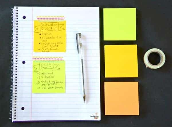 Handwritten Notes Important for School Work and Goal Setting