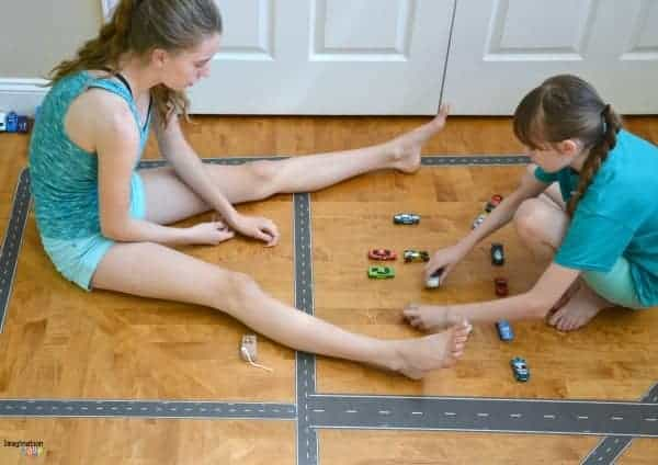 Cool Road Tape Reinvigorates Our Pretend Play play tape fun