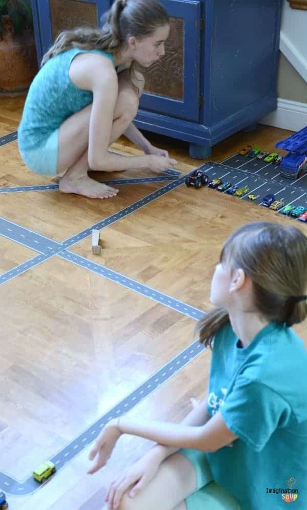 play tape pretend play with cars Cool Road Tape Reinvigorates Our Pretend Play
