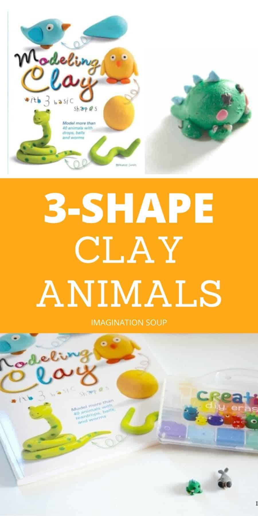fun kids craft! 3-shape clay animals