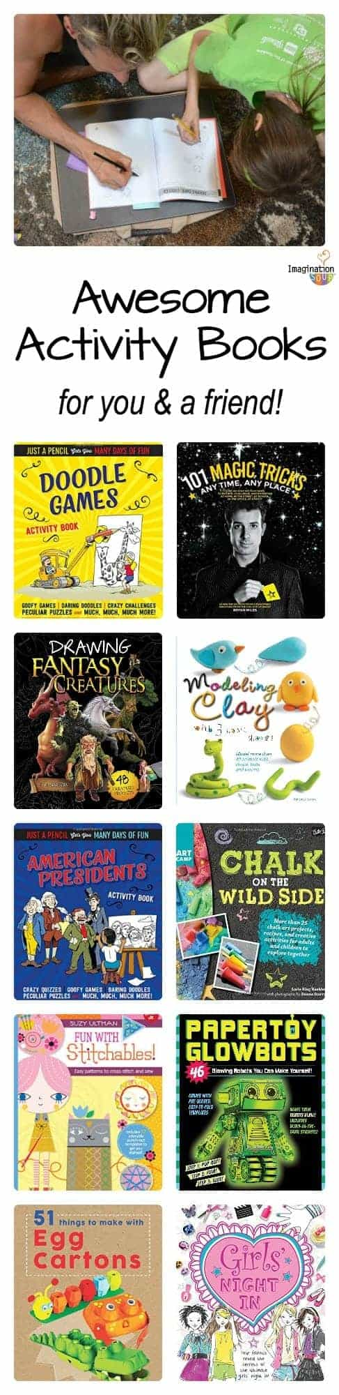 Awesome Activity Books Crafts, Magic, Drawing, and More