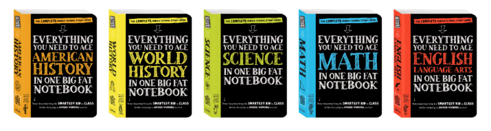 Math, Science, American History, English Language Arts, and World History My Big Fat Notebooks for Middle School
