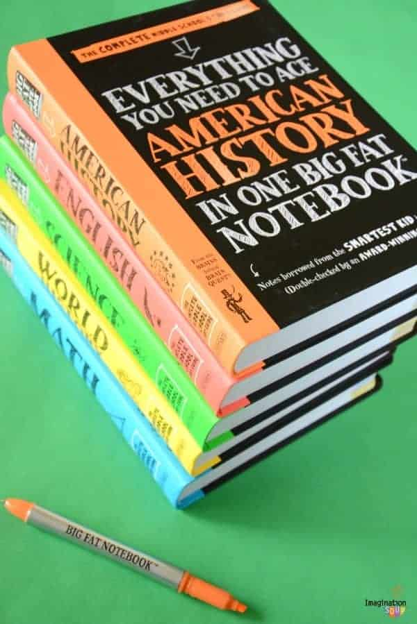 Big Fat Notebook Books / Study Guides for Middle School (Math, Science, American History, English Language Arts, and World History)