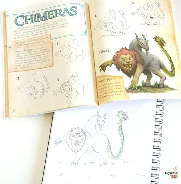 Drawing Fantasy Creatures CHIMERAS Awesome Activity Books: Crafts, Magic, Drawing, and More