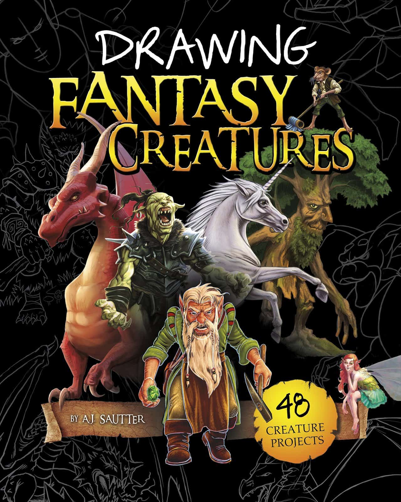 Drawing Fantasy Creatures Awesome Activity Books: Crafts, Magic, Drawing, and More
