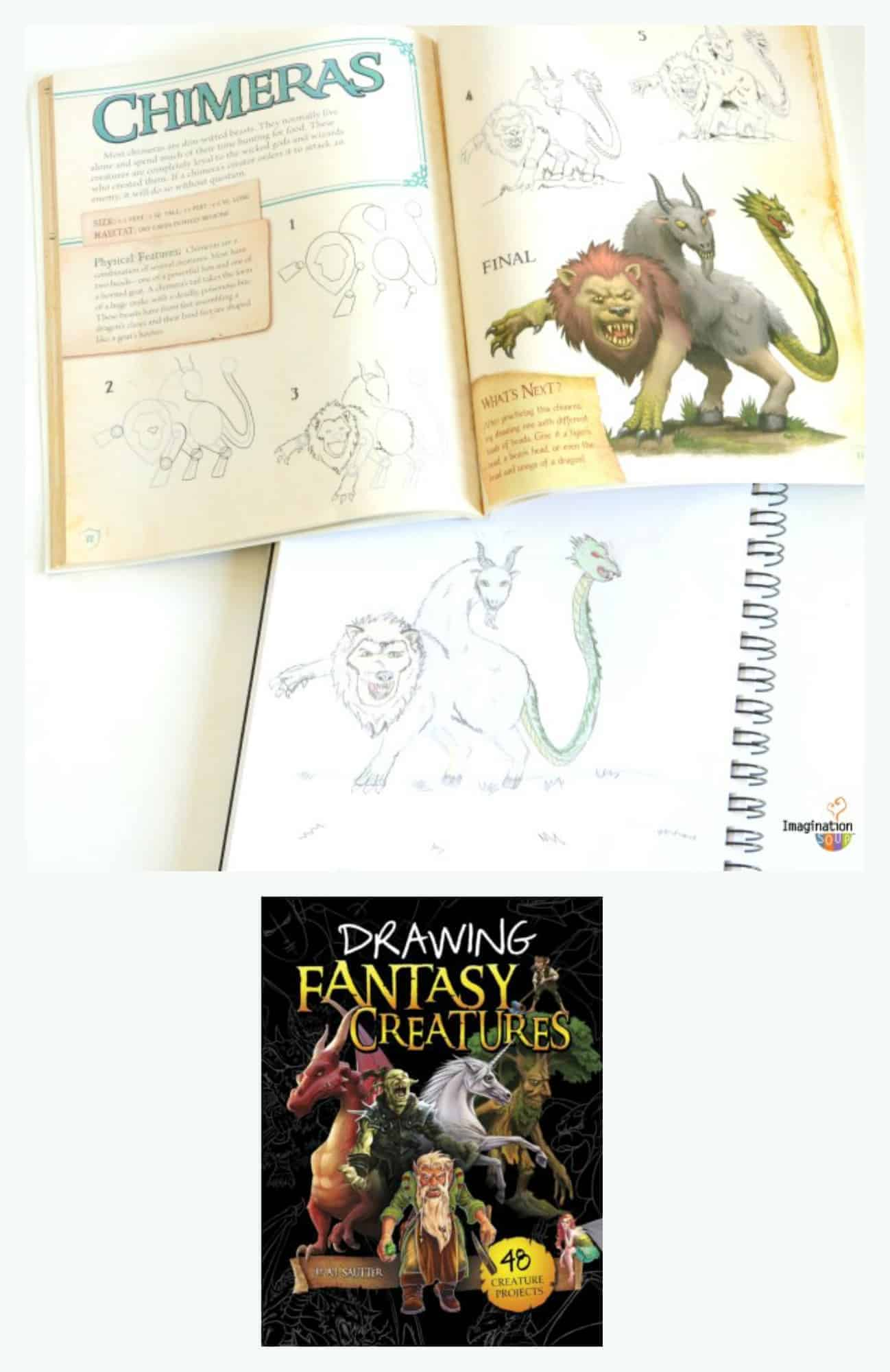 drawing fantasy creatures book for kids -- this book rocks!