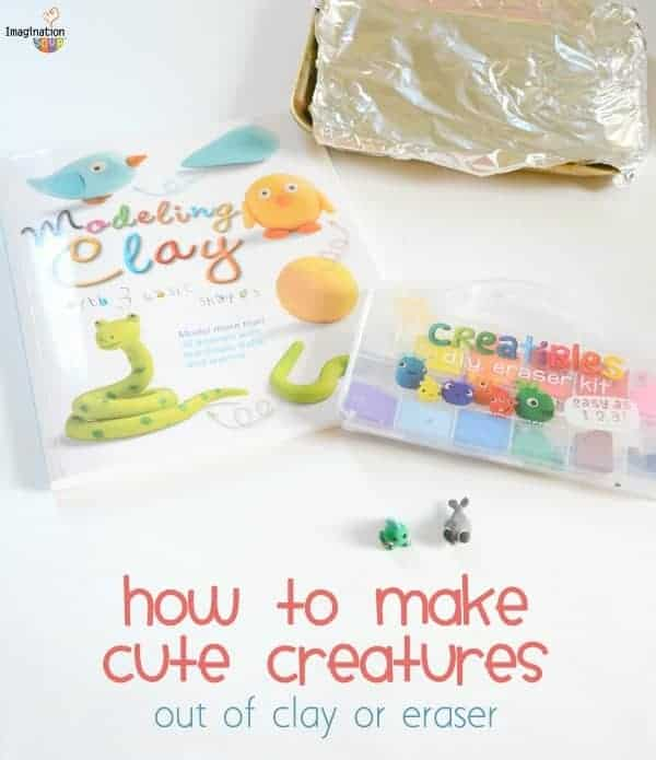 how to make cute creatures out of clay or eraser