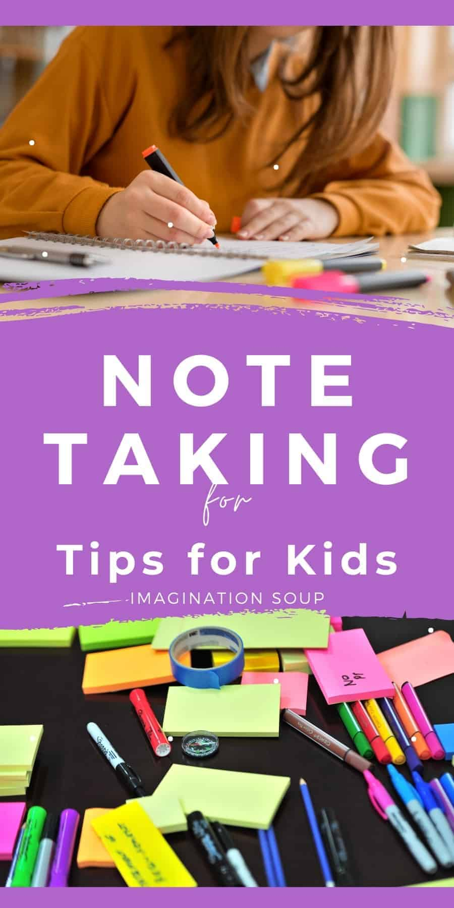 note taking tips for kids