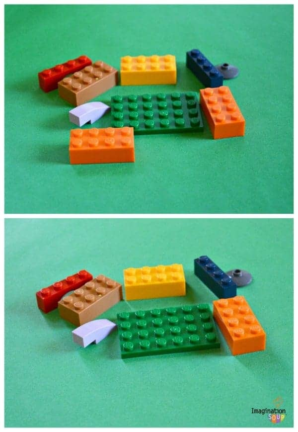 what's missing Fun Auditory and Visual Processing Activities with LEGOs
