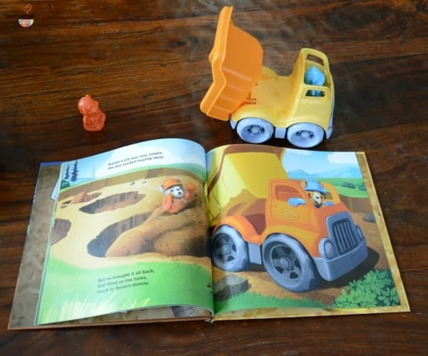 Green Toys story book and toy