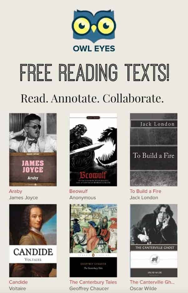 Owl Eyes is a free ereading service with texts that students and teachers can annotate