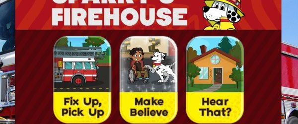 Fire Safety Week with Sparky's Firehouse App and Sparky Schoolhouse