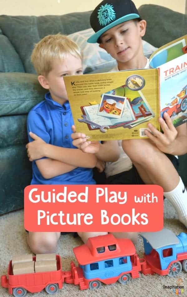 guided play with picture books and props helps children learn to plan, communicate, and think critically