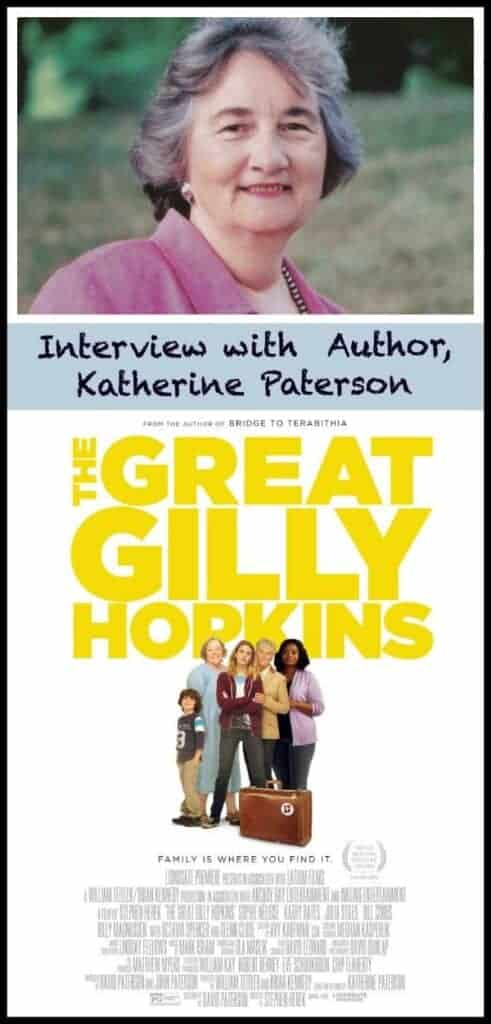 Katherine Paterson author interview about the movie The Great Gilly Hopkins