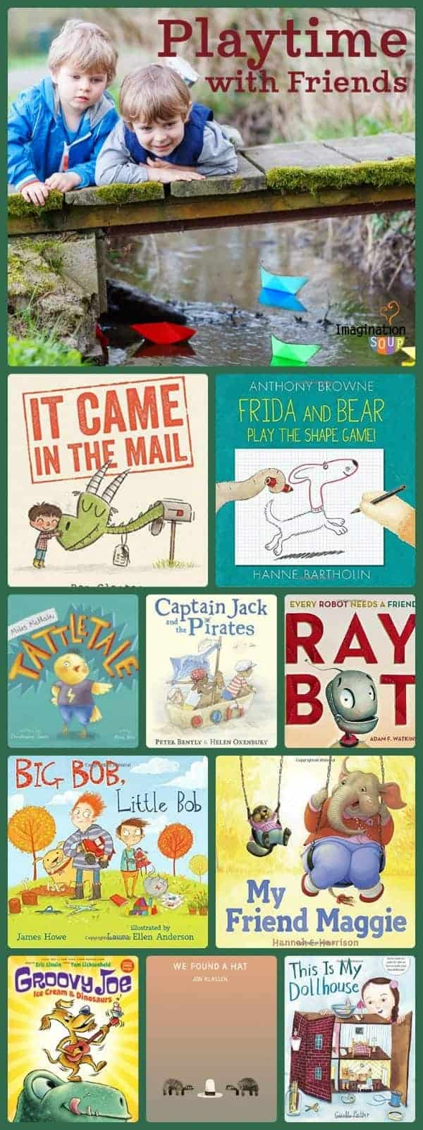Children's books about friendship, play, and sharing