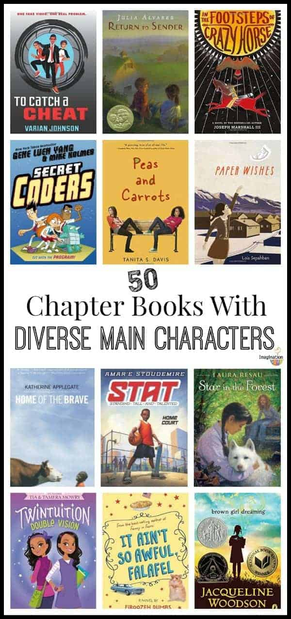 list of chapter books with diverse main characters