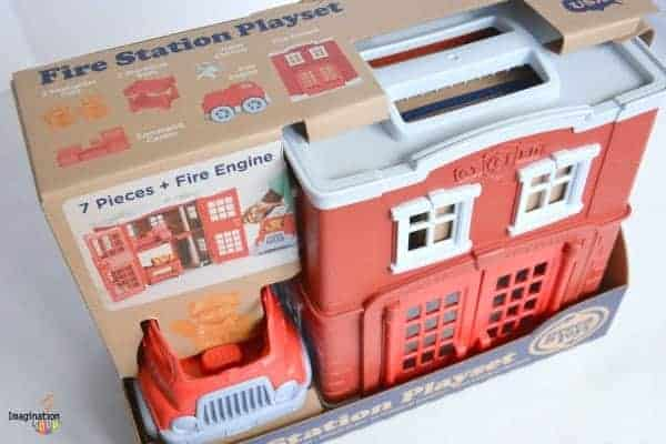 New!! Green Toys Fire Station Playset