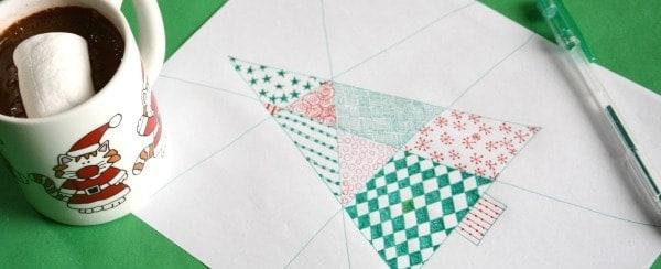 christmas art project for kids zentangle