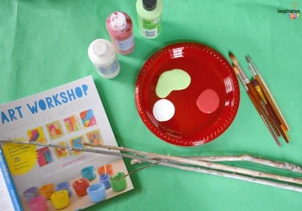 Easy Activity for the Holidays: Painted Christmas Sticks