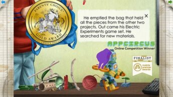 Axel's Chain REaction Good Storybook Apps for Toddlers, Preschoolers, and Early Elementary Kids