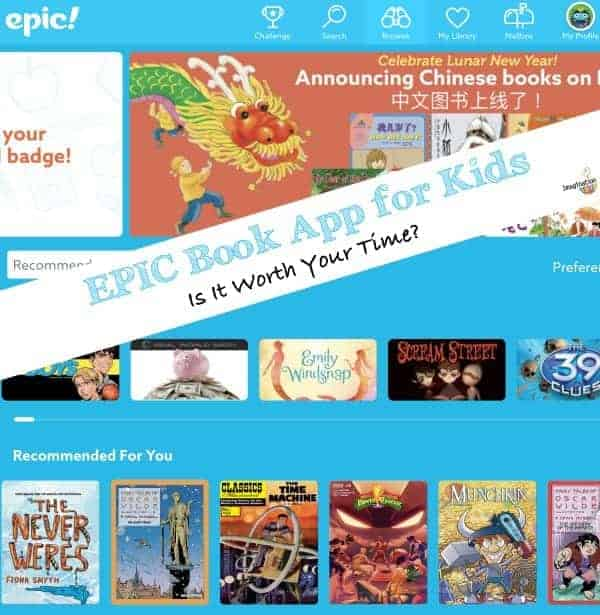 Epic book app for kids review