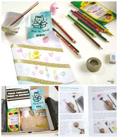 Think with art subscription box for kids