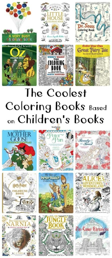 coolest coloring books based on children's books