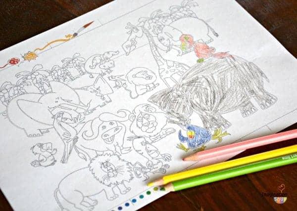 safari coloring page download