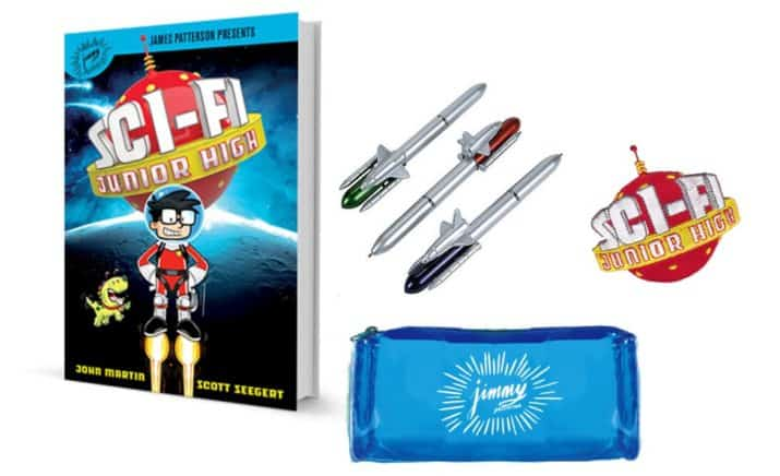 Prize Pack for Sci-Fi Junior High Adventure from Jimmy Patterson Books