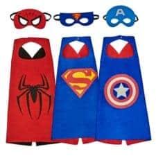 Superhero dress up capes