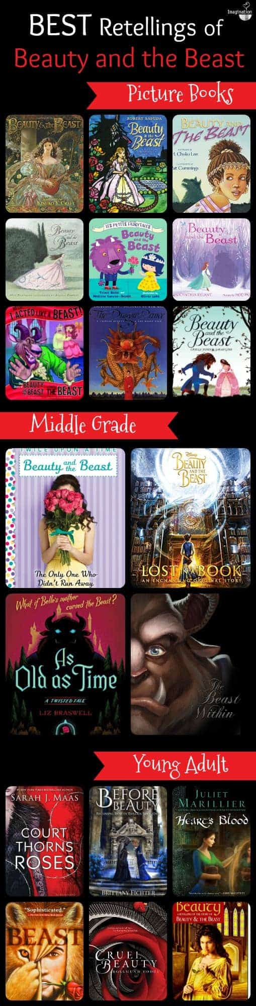best retellings and adaptations of Beauty and the Beast for kids and YA