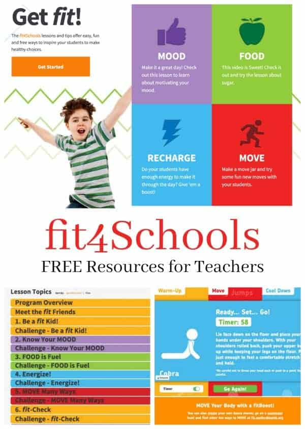 fit4Schools free resources for teachers