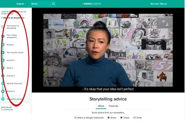 Incredible Storytelling Lessons for Kids from Pixar and Khan Academy