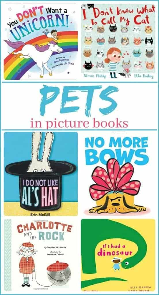 all kinds of pets in children's picture books