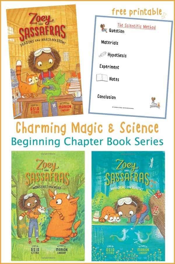 beginning chapter book series Zoey and Sassafras plus free scientific method download