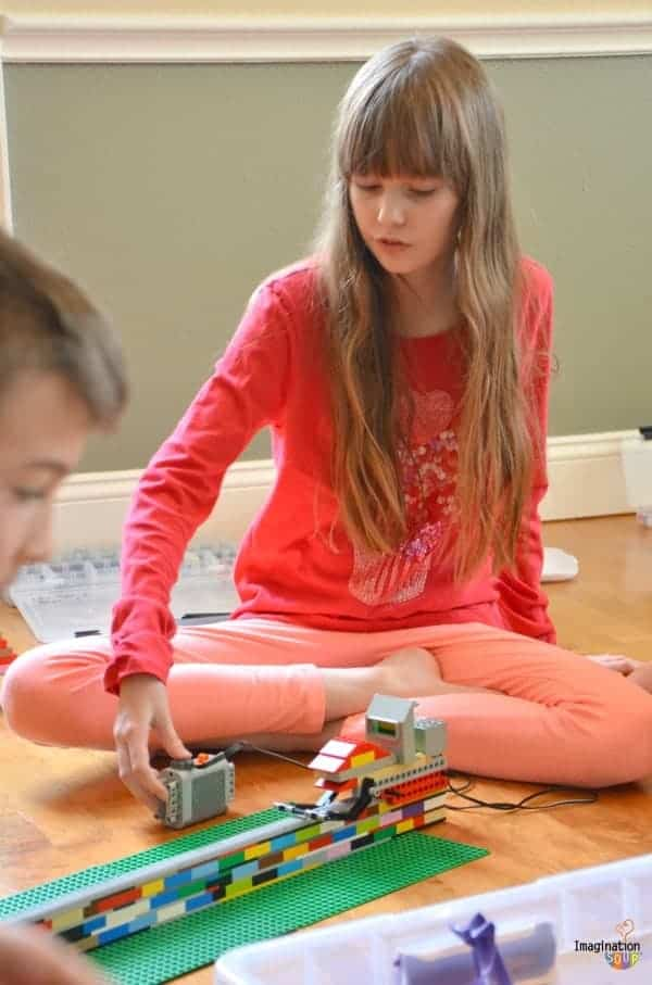 My kids and their friends LOVED PlayWell's LEGO engineering party!!