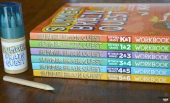 Brain Quest workbooks for elementary age kids