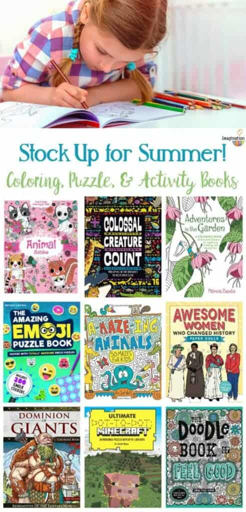 coloring books, puzzle books, and activity books - fun new choices for 2017