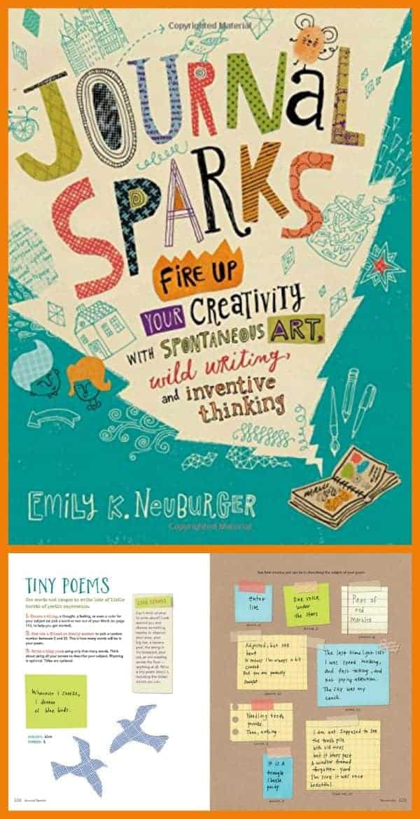 Use Journal Sparks to inspire journal writing and art over the summer