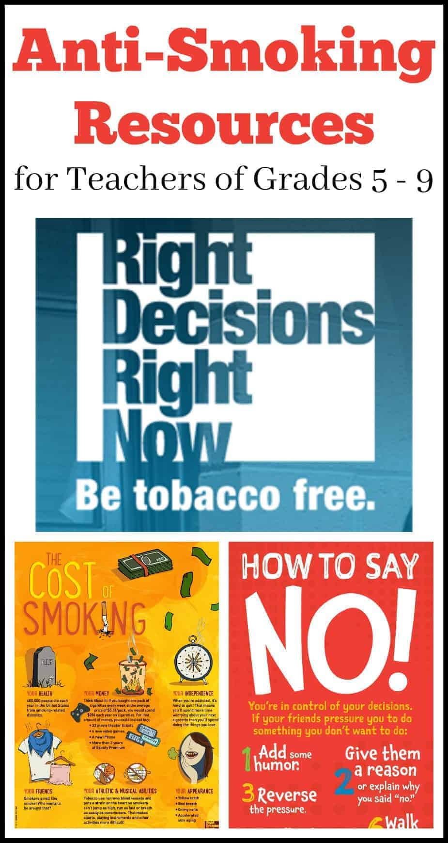 great anti-smoking resources for middle school teachers