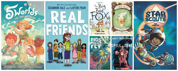new graphic novels for kids spring 2017