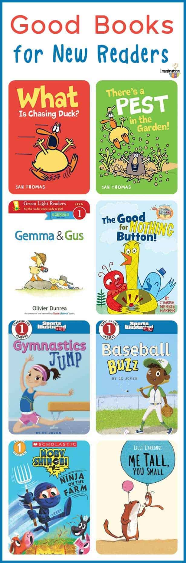 what is a good book choice for a new reader? Try one of these!