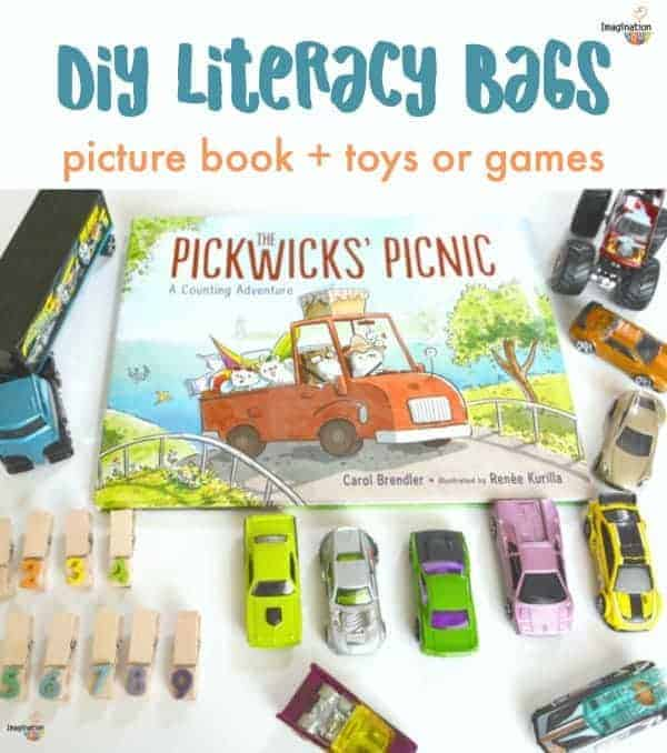 DIY Literacy Book Bags (Books plus Activities & Toys Using What You Already Have)