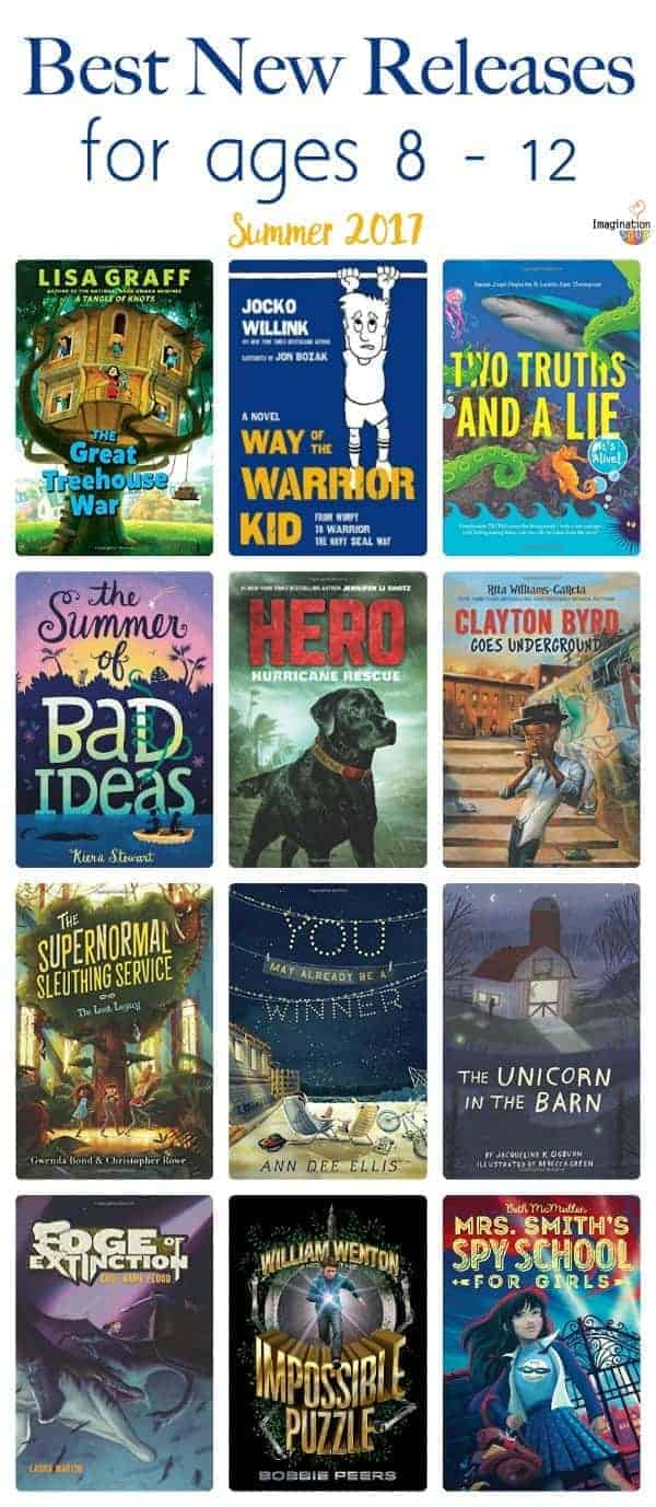 the best new book releases for kids ages 8 - 12, summer 2017