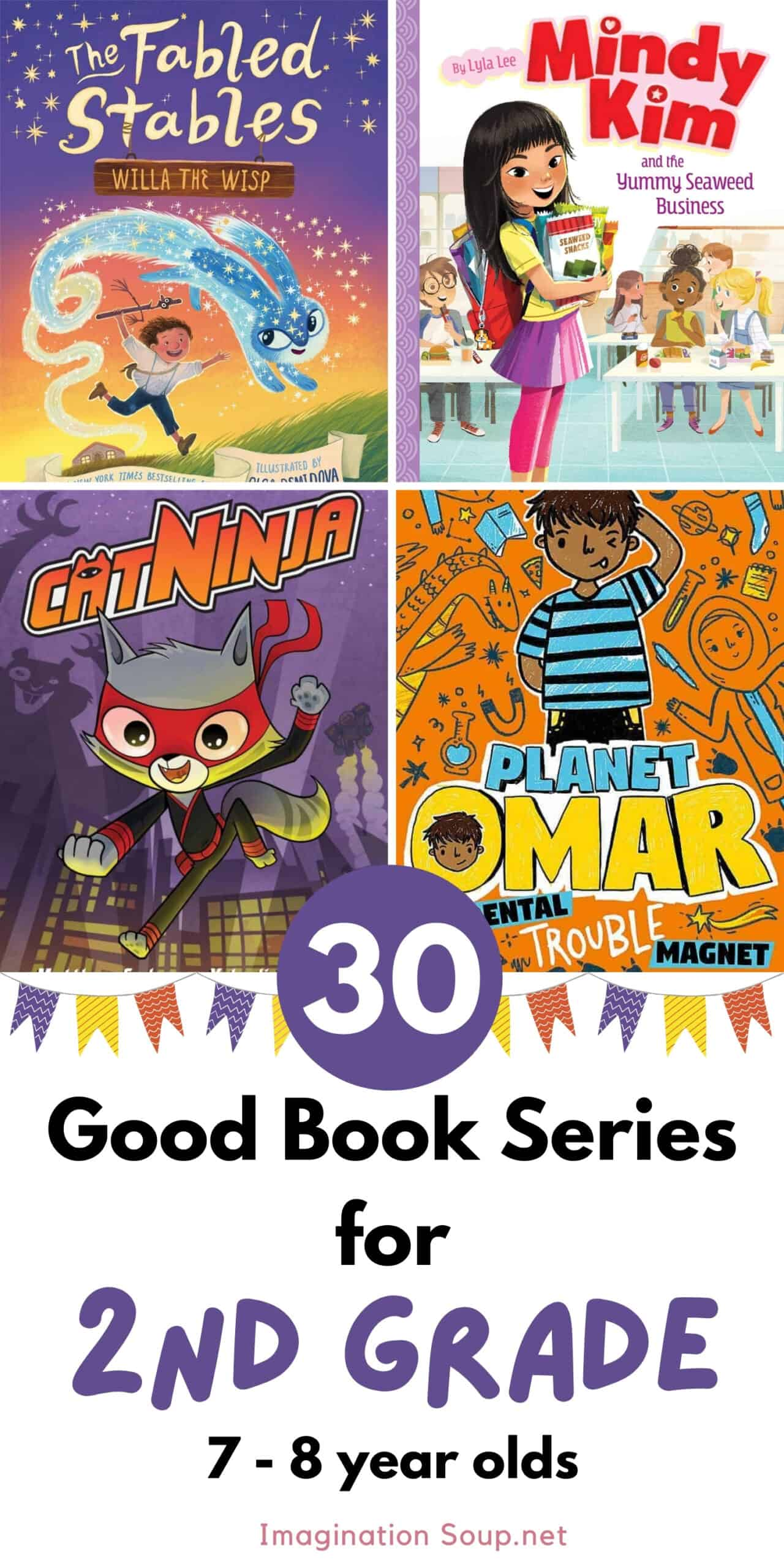 30 good book series for 2nd grade (ages 7 and 8)