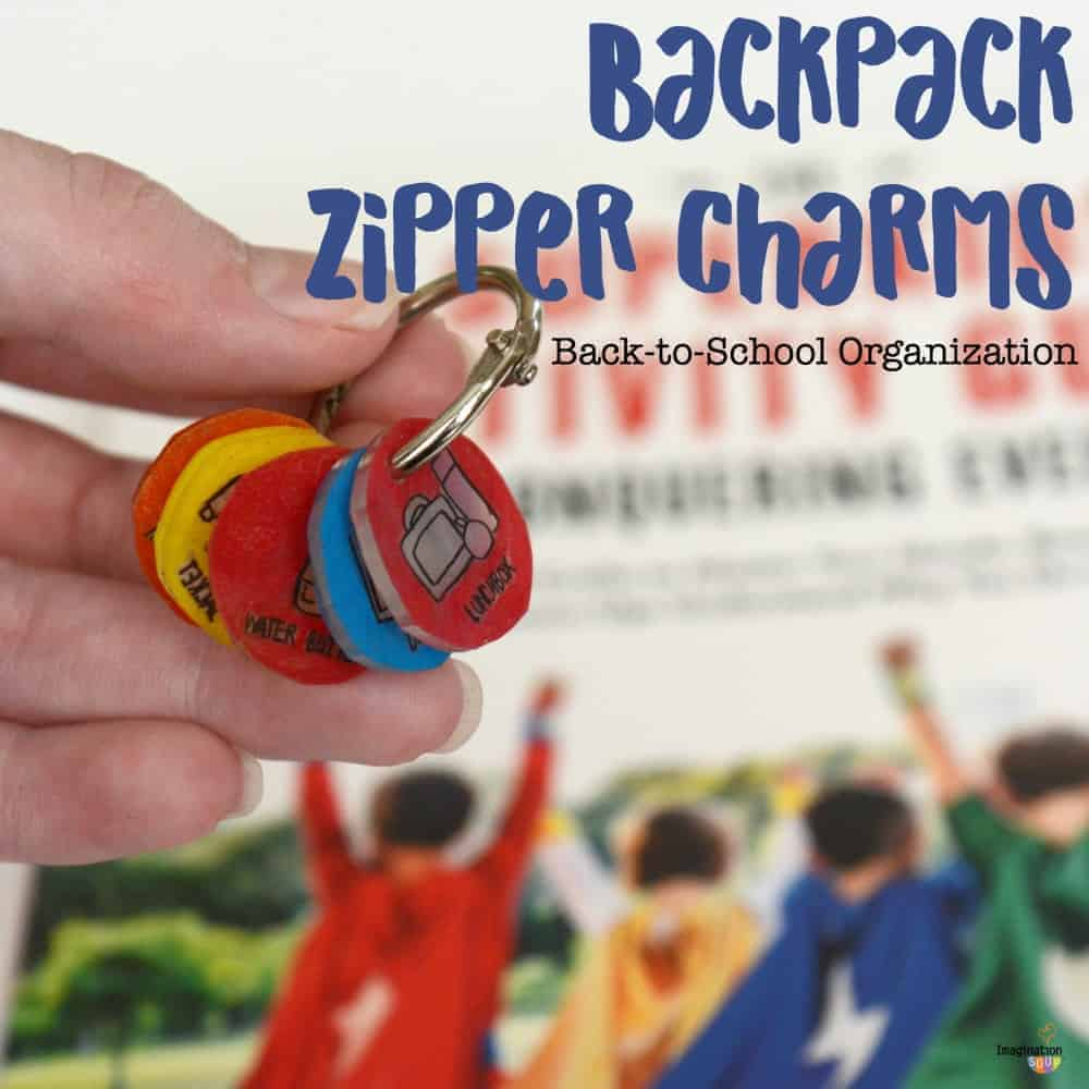 backpack zipper charms are great for back-to-school organization