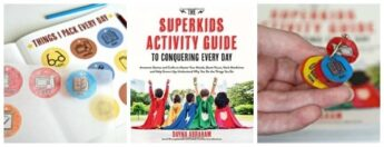 The Superkids Activity Guide project backpack charms