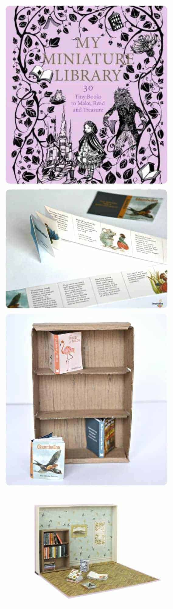 Fun DIY book craft for kids - My Miniature Library!