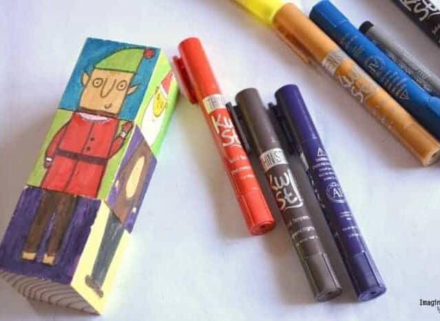 Christmas Crafts for Kids Kwik Stix mix and match blocks