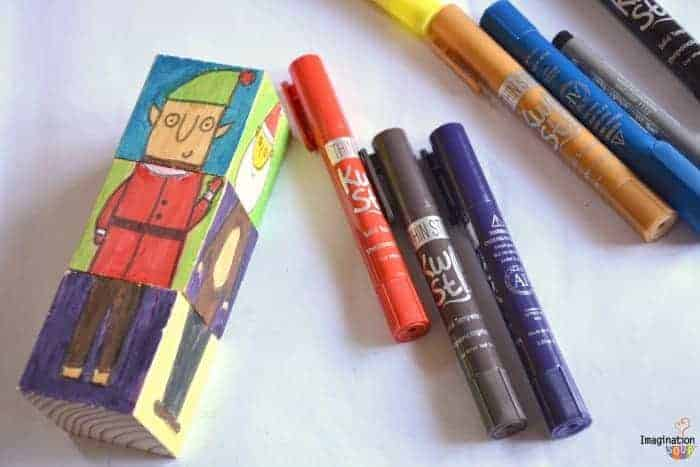Christmas Crafts for Kids Kwik Stix mix and match blocks